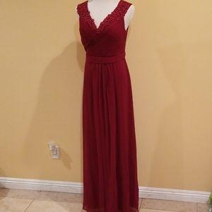 Ever Pretty Dark Red Evening Gown